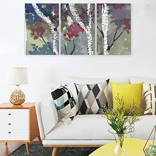 RNGIAN The Dark Forest Vintage Schlafzimmer Personalisiertes Set mit 3 Wandbildern, Canvas, weiß, 12x16