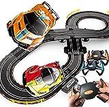LINANNAN Race Car Track, Tracer Racers R/C High Speed Control Remote Control Súper Bucle Speedway Glow Track Set para el Cambio en Las Carreras de Go, 2.8M