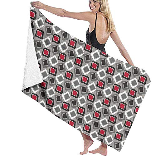 N/A Asciugamani da Bagno Sono Un Asciugamano da Spiaggia Multiuso Molto Quadrato Oversize Ultra Morbido Super Assorbente d'Acqua