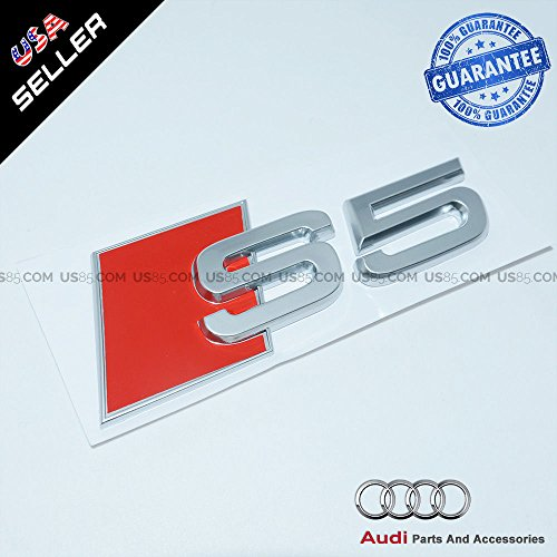 US85 OEM ABS targhetta S5 Emblema 3D Argento Tronco Logo Distintivo Decorativo modificato