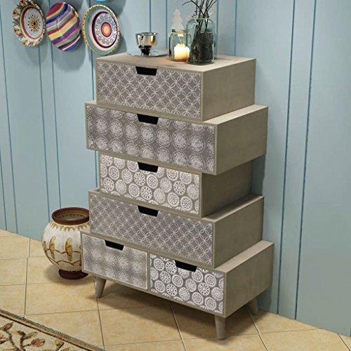 Deze kast met 6 schuifladen grijs Dit product is zeer robuust en duurzaam. keukenkast. Moderne keukenkast. Dressoir voor woonkamer.