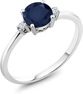 created white sapphire solitaire ring