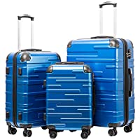 Coolife 3-piece hardside ABS luggage set on Amazon