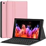 Fire HD 10 Case with Keyboard - CHESONA Slim PU Leather Folio Stand Cover with...