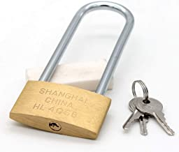 All Weather Solid Brass Keyed Different Padlock with Brass Shackle, Includes 3 Master Keys