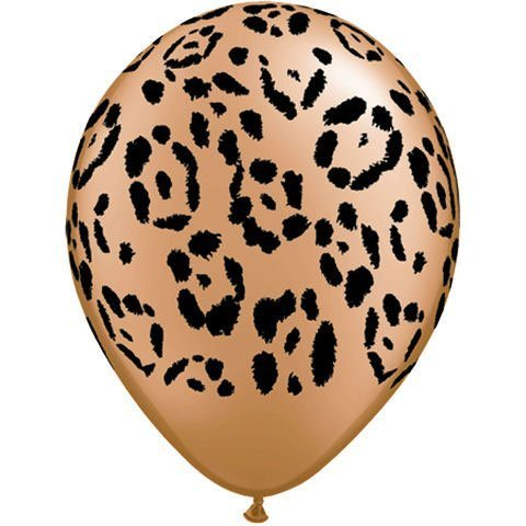 Jungle Print Leopard Balloons 10 per Package Size 11 Inches