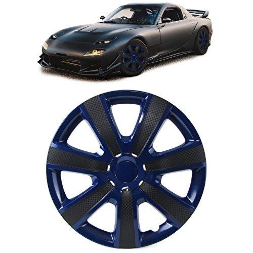 Tenzo-R 33514 Radkappen Radzierblenden Tenzo-R IX für Stahlfelgen 13 Zoll blau Carbon