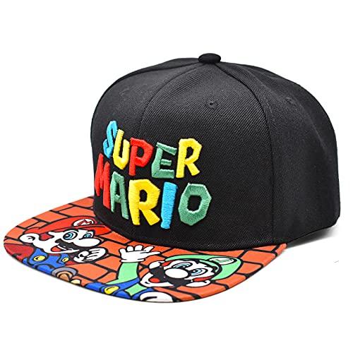 Miotlsy Super Mario Hut Super Mario Cartoon Stickerei Hut Kinder Outdoor Sonnenhut Grundschule Baseball Cap Herren und Damen Trendy Boy Hip Hop Hut Sonnenschutz