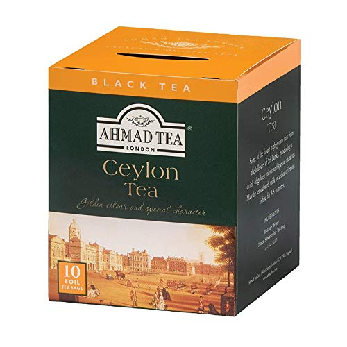 Chá Preto Ceylon Ahmad Tea London 10 Unidades de 20g