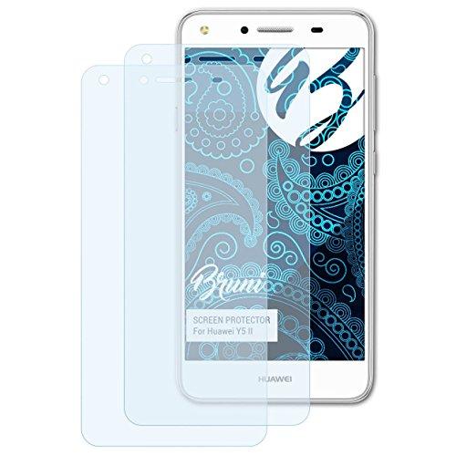 Schutzfolie kompatibel mit Huawei Y5 II Folie, glasklare Displayschutzfolie (2X)