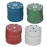 DAUERHAFT Maletín de Transporte de fichas de póquer Set Poker Game Professional, para Adultos