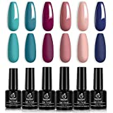 Beetles Gel Nail Polish Set, Dusty Bouquet Collection Classic Blue Pink Mavue Nail