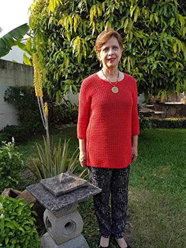 Unconditional Love Sweater: Crochet pattern(knitting accents) (Spanish Edition)