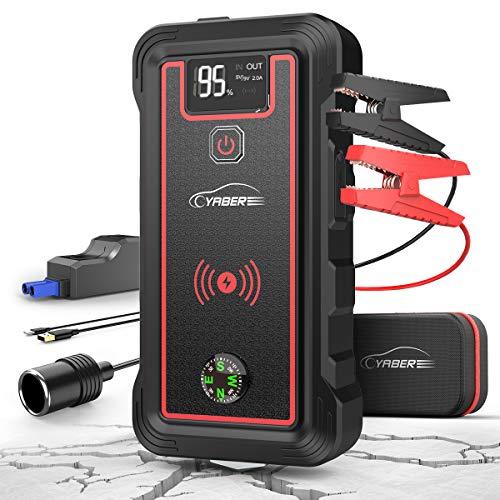 YABER Booster Batterie, 2500A 23800mAh Portable Jump Starter