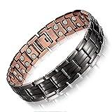Feraco Magnetic Copper Bracelet for Men Arthritis Pain Relief 99.99% Solid Copper Jewelry Double Magnetic Bracelets,...