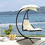 XtremepowerUS Floating Swing Chaise Lounge Chair Hammock Lounger