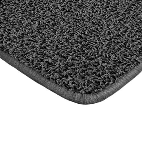 Floori Shaggy Hochflor Teppich - 100x150cm - moderner Wohnzimmerteppich - schwarz