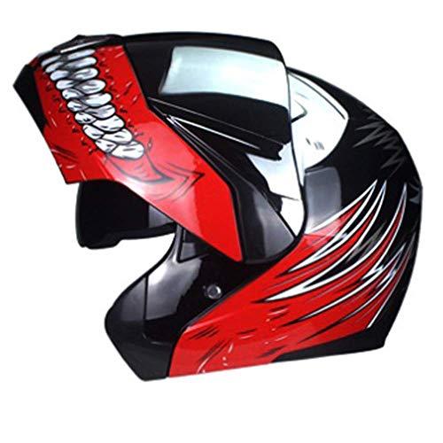 WGFGXQ Motorrad-Integralhelm DOT-zertifizierter Straßenrennmotorradhelm Cromwell-Helm Jet-Doppelspiegel Modularer Flip-Helm (S, M, L, XL), M.