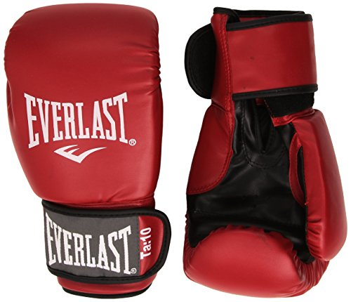 Everlast Rodney - Guantes de Boxeo, Color Rojo, Talla 14oz