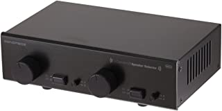 Monoprice 2-Channel A/B Speaker Selector - Black with Volume Control, Built in Independent Volume Controls, Accepts Wire Gauges Up to 14AWG