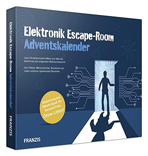 FRANZIS 67154 - Elektronik Escape Room Adventskalender, 24 Experimente und Rätsel rund um Elektronik, inkl. Begleitbuch