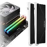 EZDIY-FAB 5V ARGB Speicher RAM Kühler DDR Kühlkörper für DIY PC Spiel MOD DDR3 DDR4 (Kompatibel mit ASUS Aura Sync,GIGABYTE RGB Fusion und MSI Mystic Light...