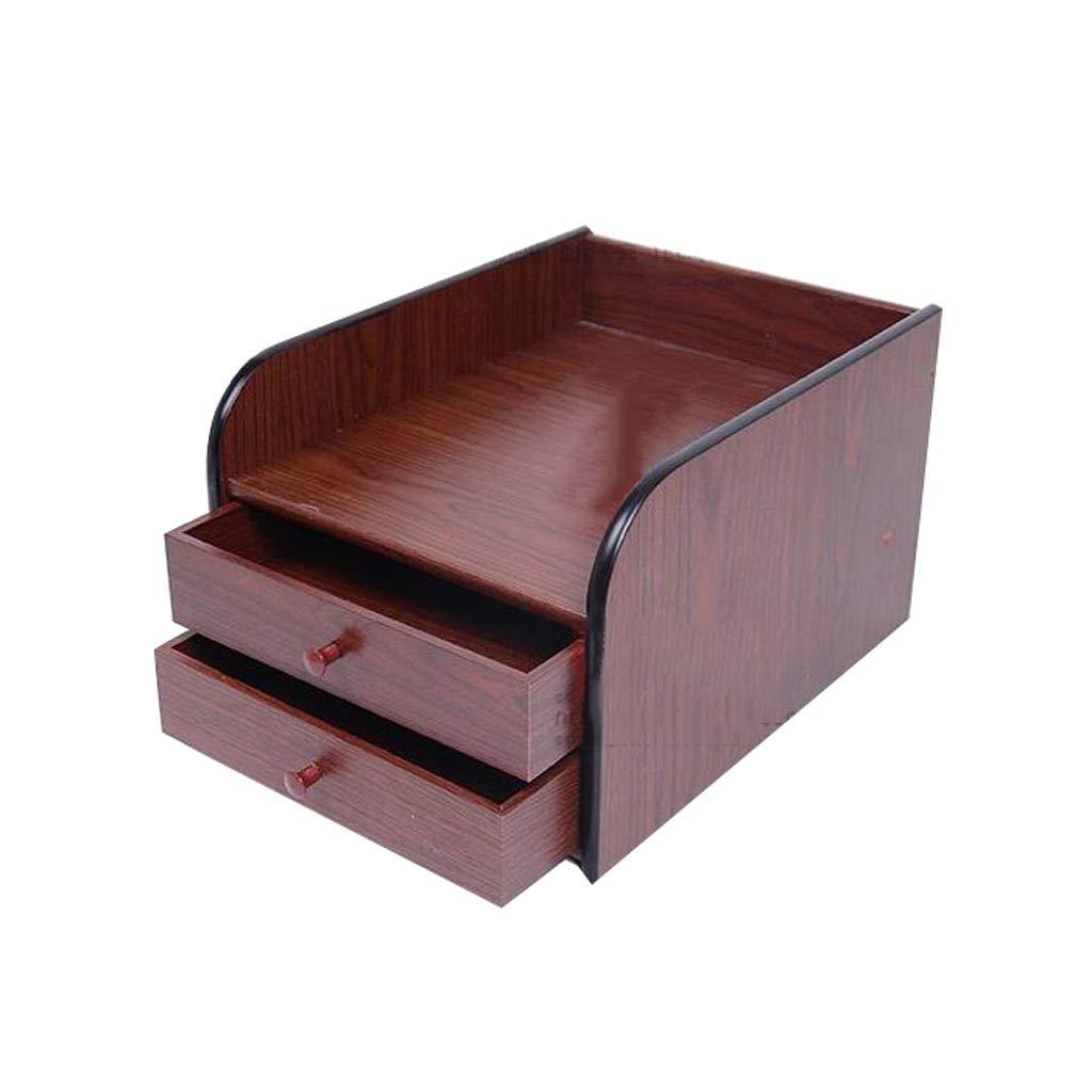 Archivadores HUXIUPING Caja de Almacenamiento Caja de Acabado de Escritorio de Madera Joyería Oficina Papelería Almacenamiento de Escritorio Gabinete Cajón Cosméticos: Amazon.es: Hogar