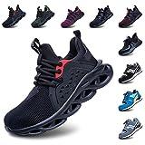 Zapatos De Seguridad Hombres Zapatillas De Trabajo con Punta De Acero S3 Calzado Mujeres Reflectante Cómodo ESD Botas Construcción Industria SRC Verde 42