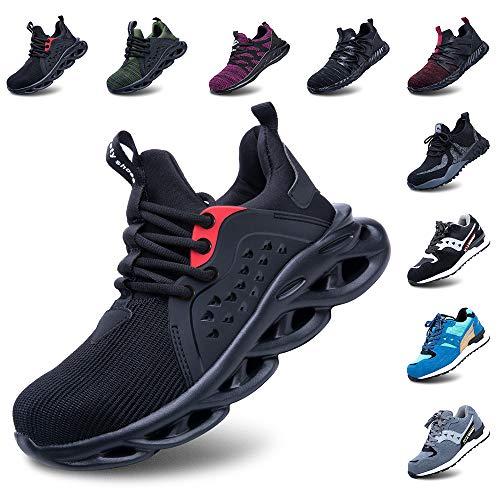 Zapatos De Seguridad Hombres Zapatillas De Trabajo con Punta De Acero S3 Calzado Mujeres Reflectante Cómodo ESD Botas Construcción Industria SRC Verde 41 ⭐