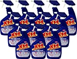 X-14 Professional Mildew Stain Remover, 32 OZ [Non-Aerosol Trigger] for Grout, Tile, Vinyl and Plastic Surfaces [12-Pack]