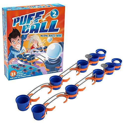 Puff Ball Tomy – T73006EN Pusteball-Spiel für Kinder – Spielset mit 2 Bällen