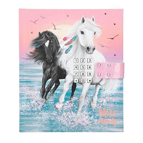 Depesche 11420 - Tagebuch mit Code und Sound, Miss Melody, rosa, ca. 18 x 15 x 3,5 cm, mit linierten Seiten für geheime Gedanken und Gefühle