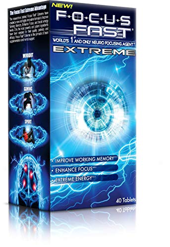 Focus Fast Extreme Supplement Nootropic Brain Pill. Improve Working Memory, Increase Focus and Boost Energy in as Little as 1 Hour! Scientifically Proven to Promote Alertness and Cognition.