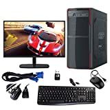 Desktop PC Configuration: Gandiva Desktop Computer PC (Core i5 1st Generation CPU / 8GB DDR3 RAM / 20 Inch LED Monitor/USB Keyboard & Mouse/WiFi) Pre Installed Windows 10 Professional (Trail Version) (500GB Hard Drive) Desktop Computer Package Includ...