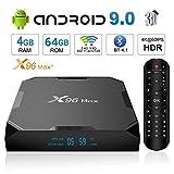 Android TV Box 9.0 TTV Box X96 Max+ Smart TV Box Amlogic S905X2 Quad Core 4GB 64GB Support USB 2.4G WiFi BT 1000M 4K Media Player Set top Box [2020 New]