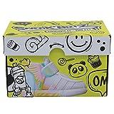Splash Toys- Splashtoys-SNEAK'ARTZ SHOEBOX Azul - Diseño y Personaliza Tus Zapatillas a Partir de 5 años, 32220