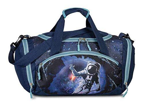 FABRIZIO Kindersporttasche Sporttasche Reisetasche Astronaut blau