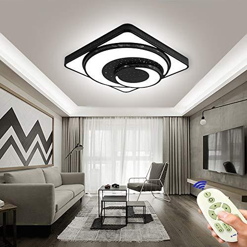 COOSNUG LED Deckenleuchte Mond 48W Dimmbar Wohnzimmer Deckenlampe Modern Deckenleuchten Kueche Flur Schlafzimmer Schwarz