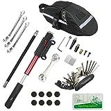 CHUMXINY Bike Repair Kit, Bike Tire Repair Tool Kit Contains 16-in-1 Tool, 120Psi Mini Bicycle Pump, Bicycle Tire Patch Kit, Used for Mountain Bike and Road Bike.