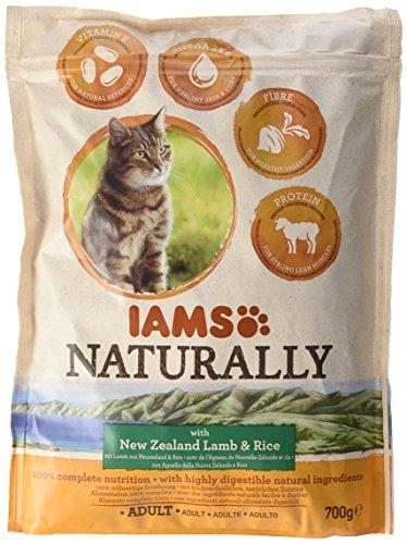 Iams Naturally Katze Lamm (Trockenfutter für erwachsene Katzen mit Lamm aus Neuseeland und Reis), 700 g