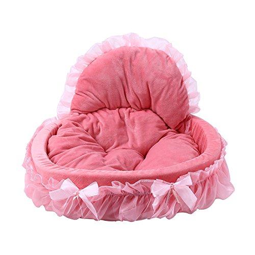 Perfectii Prinzessin Hundebett, Tierbett Weich Gepolstert Hundebett Hundesofa Korb Lace Princess Bed Design Haustier-Bett
