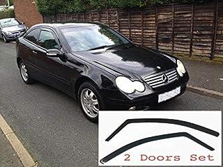 2x Deflectores de Aire Compatible con Mercedes Clase C Compact W203 Coupe 2 Puertas 2000 -