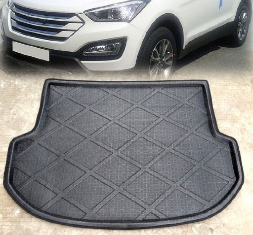 Auto Accessories Rear Trunk Tray Boot Liner Cargo Floor Mat Cover Protector Carpet Fit For 2013 2014 HYUNDAI SANTA FE IX45