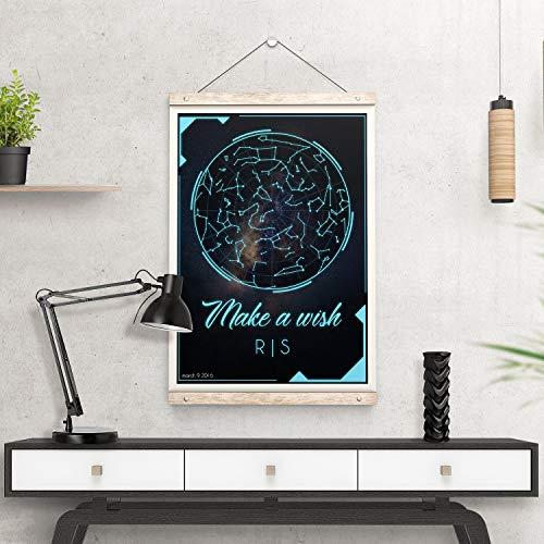 onbekend Wall Art Digital Download Aangepaste Star Kaart houten bord - Gepersonaliseerde Sky Chart hout handtekening Art Constellation Datum - The Night Star Map Instant Pdf Image Gift hout plaque, aangepaste gift