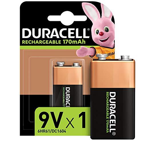 Duracell Rechargeable 9V 170 mAh Block Akku Batterien 6HR61, 1er Pack