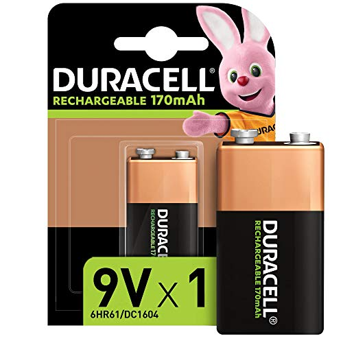 Duracell Rechargeable 9V 170 mAh Block Akku Batterien 6HR61, 1er Pack