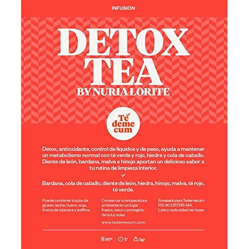 DETOX TEA BY DR. NURIA LORITE 50gr. Bardana, cola de caballo, diente de león, hiedra, hinojo, malva, té rojo, té verde.