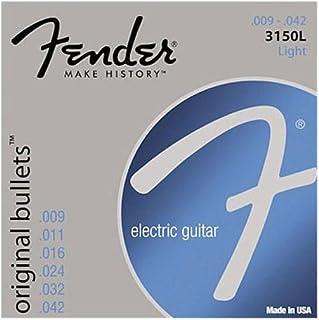 Fender 3150L Pure Nickel Bullet End Electric Guitar Strings - Light 9 42
