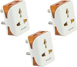 Hi-PLASST 3PIN Modular Travel Universal Multiplug(3Pcs),Worldwide Adaptor,Socket Connector-3pcs