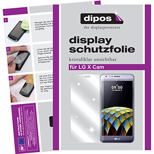 dipos I 6X Schutzfolie klar kompatibel mit LG X Cam Folie Bildschirmschutzfolie